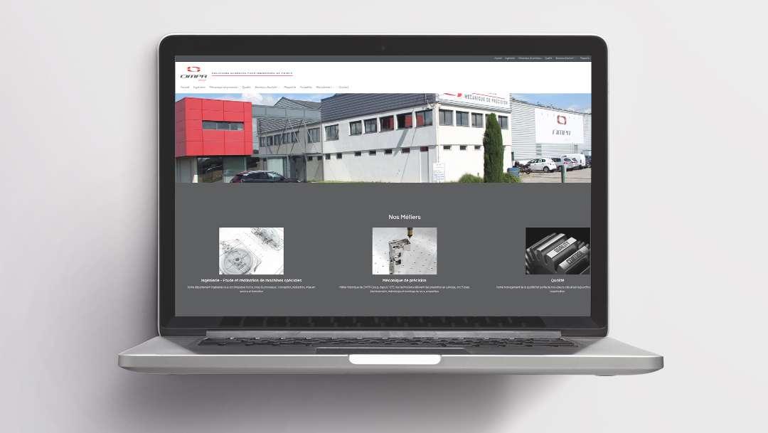 Portfolio développement site web The Webside